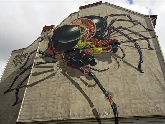 Graffiti Spinne
