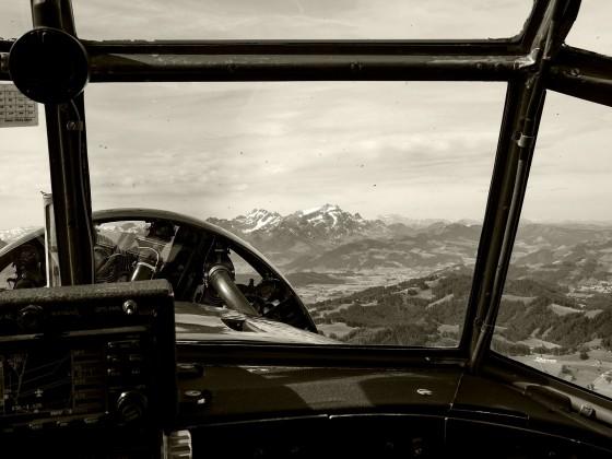 Anflug auf die die Schweizer Alpen