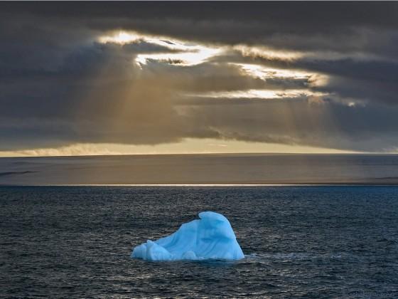 Blue Ice in the Dark